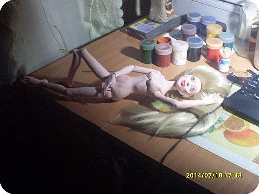 Куклы Лепка Шарнирная кукла Бумага Волосы Гуашь Клей Пастель Пластика фото 4