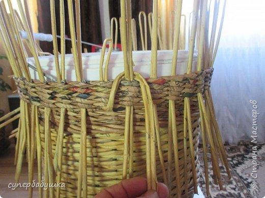 Мастер-класс Поделка изделие Плетение Две дочки и падчерица Трубочки бумажные фото 10