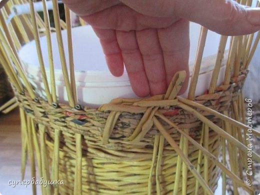Мастер-класс Поделка изделие Плетение Две дочки и падчерица Трубочки бумажные фото 13