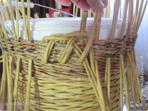 Мастер-класс Поделка изделие Плетение Две дочки и падчерица Трубочки бумажные фото 14