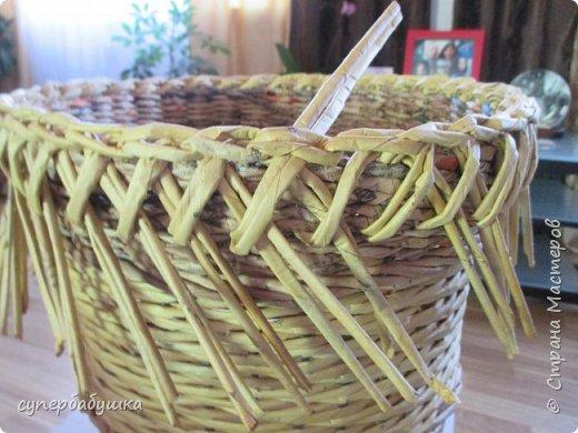 Мастер-класс Поделка изделие Плетение Две дочки и падчерица Трубочки бумажные фото 20
