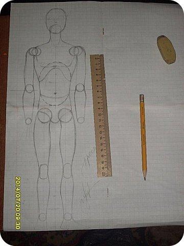 Куклы Мастер-класс Материалы и инструменты Лепка Шарнирная кукла Начало Бумага Клей фото 1
