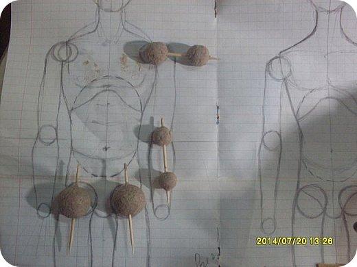 Куклы Мастер-класс Материалы и инструменты Лепка Шарнирная кукла Начало Бумага Клей фото 8