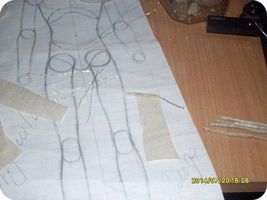 Куклы Мастер-класс Материалы и инструменты Лепка Шарнирная кукла Начало Бумага Клей фото 12