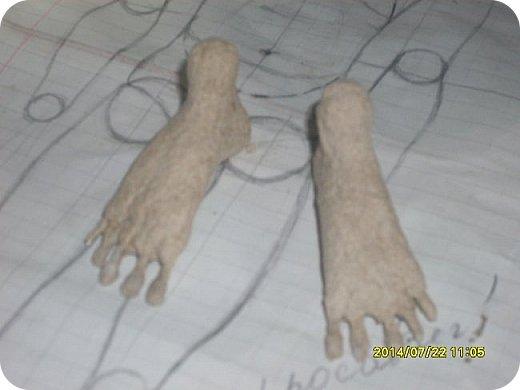 Куклы Мастер-класс Материалы и инструменты Лепка Шарнирная кукла Начало Бумага Клей фото 20