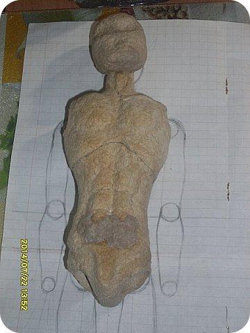 Куклы Мастер-класс Материалы и инструменты Лепка Шарнирная кукла Начало Бумага Клей фото 23