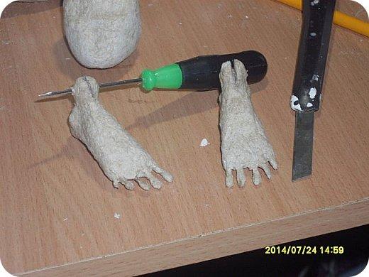 Куклы Мастер-класс Материалы и инструменты Лепка Шарнирная кукла Начало Бумага Клей фото 26