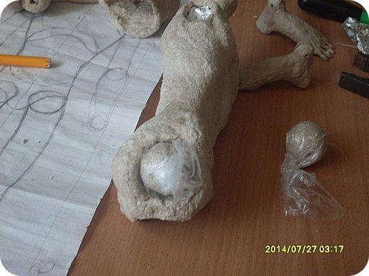 Куклы Мастер-класс Лепка Шарнирная кукла Продолжение Шарниры суставы конечности Бумага Клей фото 5