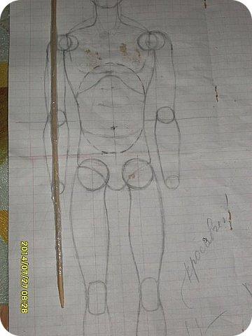 Куклы Мастер-класс Лепка Шарнирная кукла Продолжение Шарниры суставы конечности Бумага Клей фото 16