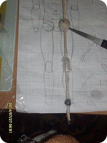 Куклы Мастер-класс Лепка Шарнирная кукла Продолжение Шарниры суставы конечности Бумага Клей фото 23