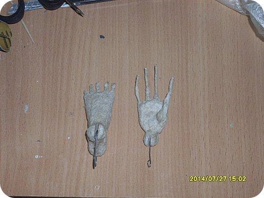 Куклы Мастер-класс Лепка Шарнирная кукла Продолжение Шарниры суставы конечности Бумага Клей фото 11