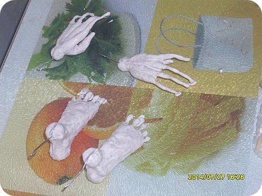 Куклы Мастер-класс Лепка Шарнирная кукла Формируем тело Руки и ноги Бумага Клей Пластика фото 1