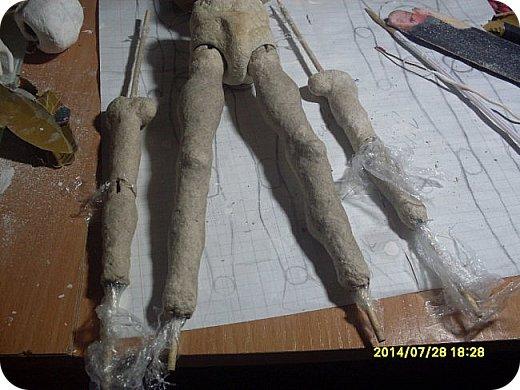 Куклы Мастер-класс Лепка Шарнирная кукла Формируем тело Руки и ноги Бумага Клей Пластика фото 9