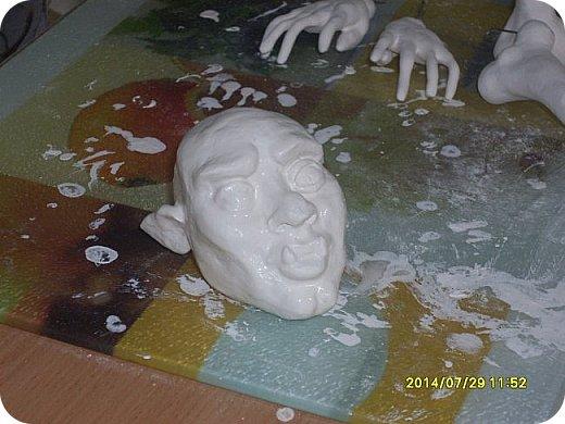 Куклы Мастер-класс Лепка Шарнирная кукла Формируем тело Руки и ноги Бумага Клей Пластика фото 11