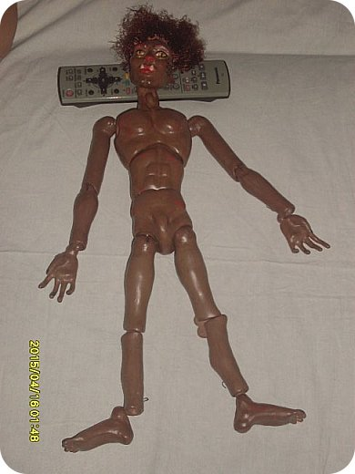 Куклы Мастер-класс Лепка Шарнирная кукла Завершение Краска Ленты Пластика фото 20