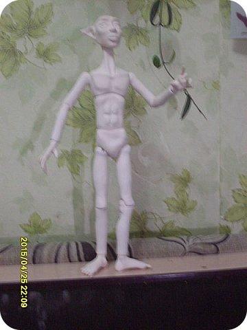 Куклы Лепка Новичок Эльф - назовем его Тутанхамон Брат Орка Бумага Клей Пластика фото 5