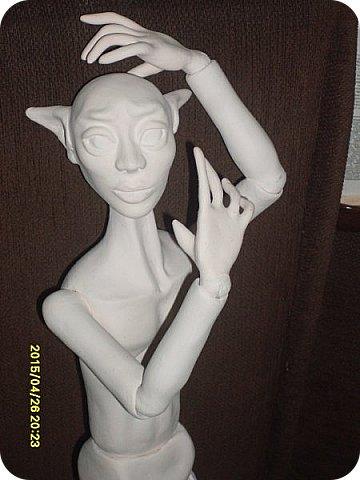 Куклы Лепка Новичок Эльф - назовем его Тутанхамон Брат Орка Бумага Клей Пластика фото 11