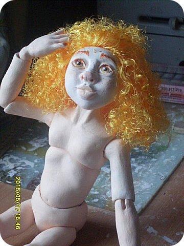 Куклы Лепка Гархолла девочка-ангел Бумага Клей Краска Ленты Пастель Пластика фото 7