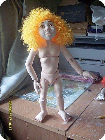 Куклы Лепка Гархолла девочка-ангел Бумага Клей Краска Ленты Пастель Пластика фото 9