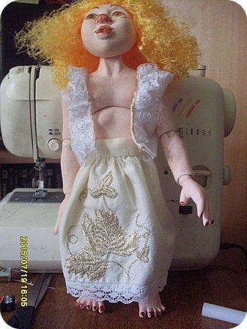 Гардероб Куклы Кукольная жизнь Вышивка Шитьё Платье для Гархоллы Кружево Ленты Нитки Ткань фото 4
