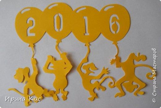 Поделка изделие Новый год Вырезание Готовлю сани летом  Вытынанки по восточному календарю обезьяна свинья петух  Начало  Бумага фото 4