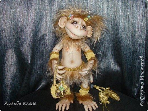 Куклы Новый год Шитьё Обезьянка Новогодняя Капрон Мех Ткань фото 1