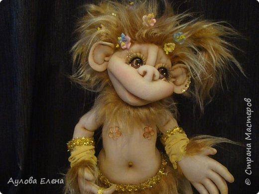 Куклы Новый год Шитьё Обезьянка Новогодняя Капрон Мех Ткань фото 5