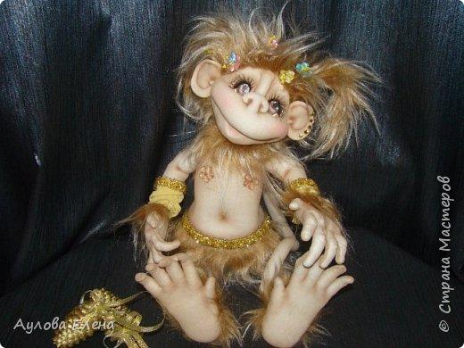 Куклы Новый год Шитьё Обезьянка Новогодняя Капрон Мех Ткань фото 6