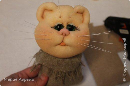 Мастер-класс Поделка изделие Шитьё МК кота в мешке Капрон Мех Мешковина фото 85