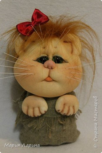 Мастер-класс Поделка изделие Шитьё МК кота в мешке Капрон Мех Мешковина фото 1