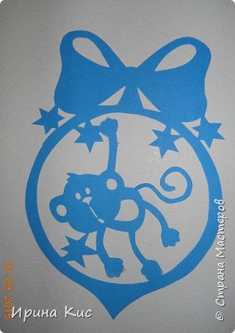 Картина панно рисунок Новый год Вырезание Вытынанки по восточному календарю Продолжение обезьяна петух собака змея коза  Бумага фото 2