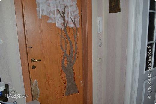 Декор предметов Мастер-класс Папье-маше Реставрация входной двери Бумага Гуашь Клей Коробки Краска Салфетки фото 11