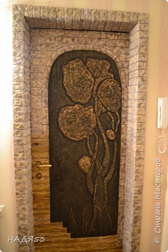 Декор предметов Мастер-класс Папье-маше Реставрация входной двери Бумага Гуашь Клей Коробки Краска Салфетки фото 1