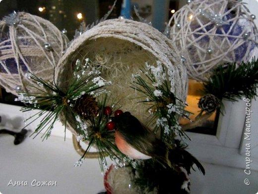 Поделка изделие Новый год Моделирование конструирование Светильник Новогодняя сказка Бусины Шпагат фото 3