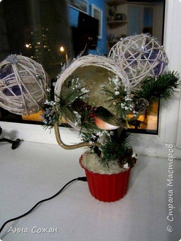 Поделка изделие Новый год Моделирование конструирование Светильник Новогодняя сказка Бусины Шпагат фото 2
