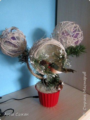 Поделка изделие Новый год Моделирование конструирование Светильник Новогодняя сказка Бусины Шпагат фото 6