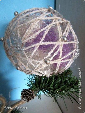 Поделка изделие Новый год Моделирование конструирование Светильник Новогодняя сказка Бусины Шпагат фото 7