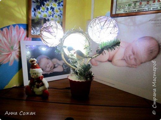 Поделка изделие Новый год Моделирование конструирование Светильник Новогодняя сказка Бусины Шпагат фото 9