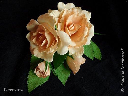 Поделка изделие Моделирование конструирование Розы из фома Фоамиран фом фото 1