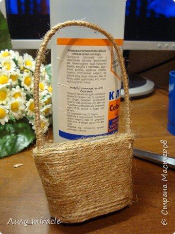 """По многочисленным просьбам предлагаю вам свой МК по созданию магнита """"Корзинка с цветами"""". Первоначальный пост здесь http://stranamasterov.ru/node/1001777 фото 20"""
