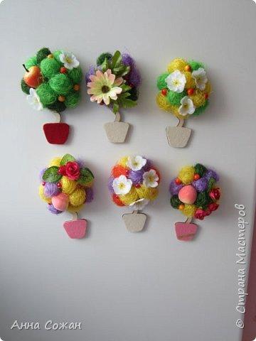 Всем доброго дня! Приглашаю Вас посмотреть мои подарки к 8 Марта! Деревья счастья, магнитики-топиарии и гнёздышки.  фото 8