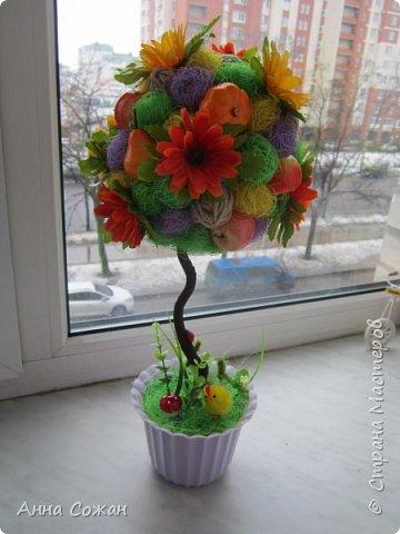 Всем доброго дня! Приглашаю Вас посмотреть мои подарки к 8 Марта! Деревья счастья, магнитики-топиарии и гнёздышки.  фото 1