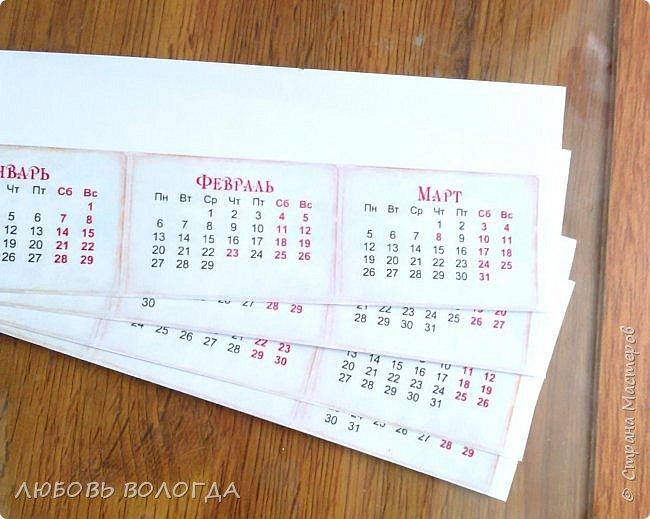 Сделала несколько календариков в качестве сувениров для близких и друзей. фото 14