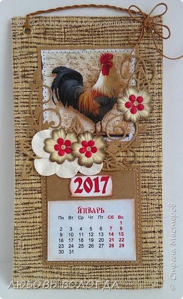 Сделала несколько календариков в качестве сувениров для близких и друзей. фото 9
