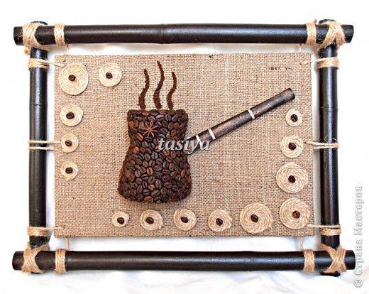 Декор предметов Моделирование ДУЭТ 2 панно на стену Кофе фото 1