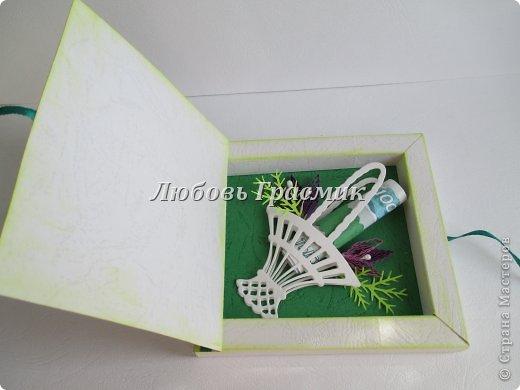 Мастер-класс Упаковка День рождения Бумагопластика Квиллинг Коробочка для подарка из листа А4 Бумага Картон фото 5