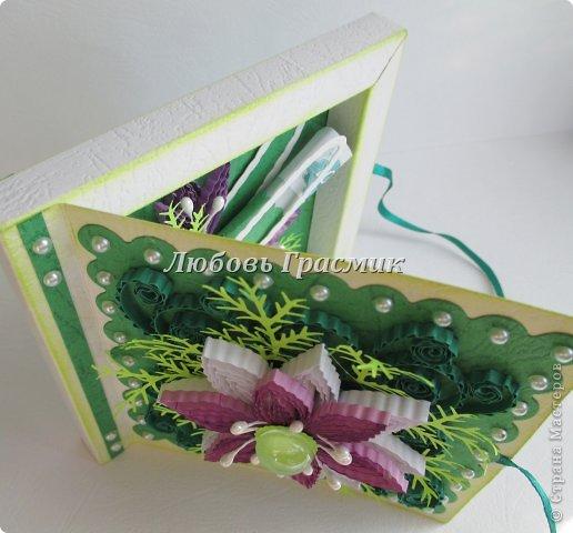 Мастер-класс Упаковка День рождения Бумагопластика Квиллинг Коробочка для подарка из листа А4 Бумага Картон фото 4