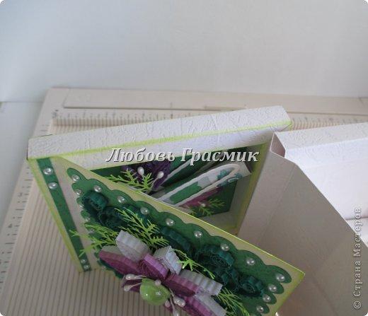 Мастер-класс Упаковка День рождения Бумагопластика Квиллинг Коробочка для подарка из листа А4 Бумага Картон фото 19