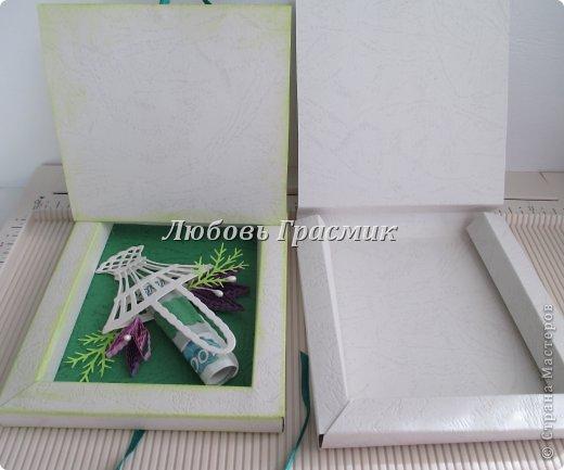 Мастер-класс Упаковка День рождения Бумагопластика Квиллинг Коробочка для подарка из листа А4 Бумага Картон фото 20