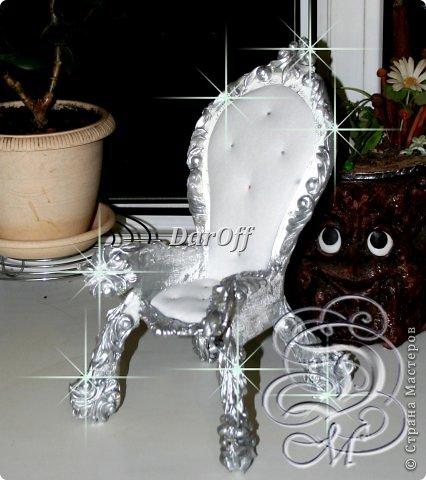 Кукольная жизнь Макет модель Мастер-класс Картонаж Папье-маше Царский трон -МК часть вторая Клей Ткань Фарфор холодный фото 1